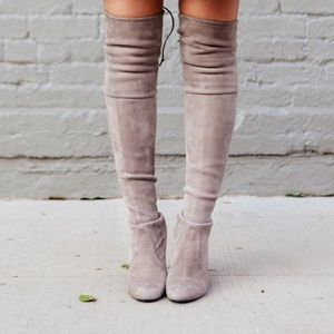 STEVE MADDEN Nude Over the Knee Boots